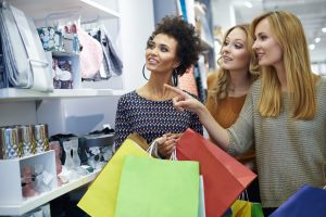 Three girls in the shop